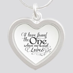 Song of Solomon Silver Heart Necklace